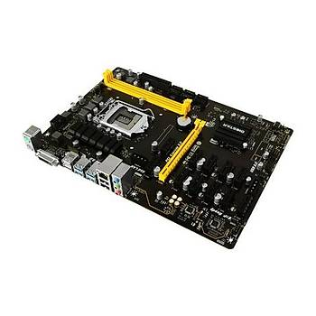 Biostar TB360-BTC PRO Ver.6x 8.9.Nesil LGA 1151 DDR4 2666 M.2 12li Ekran Giriþi HDMI Mining Anakart