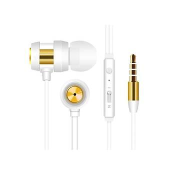 Snopy SN-J01 Beyaz Gold Mikrofonlu Kulaklýk