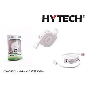Hytech HY-W345 2mt Makaralý cat5e Kablo