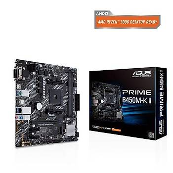 Asus Prime B450M-K II Ddr4 BIOS Flash Back Am4 Anakart
