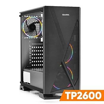 DARK TP2600 Ryzen5 2600 8GB GTX750Ti 4GB 1TB HDD Masaüstü Bilgisayar
