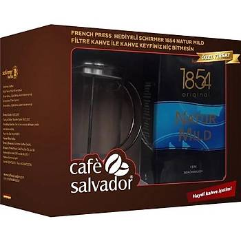 Cafe Salvador Natur Mýld Schýrmer Filtre Kahve 500gr (French Pres Hediyeli)