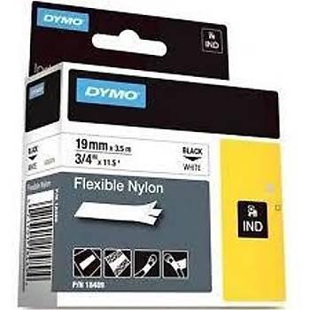 Dymo RhinoPRO Esnek Naylon 19mmx3,5m Beyaz-Siyah