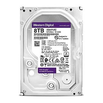 """Wd 8Tb Purple 3,5"""" 256Mb 5400Rpm Wd81Purz Harddisk"""