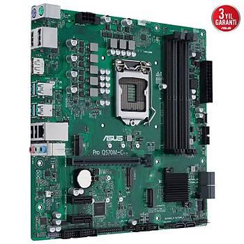 Asus Pro Q570M-C-CSM Intel LGA1200 11.Nesil DDR4 128GB 3200MHz M.2 Dp-Hdmi mATX Anakart