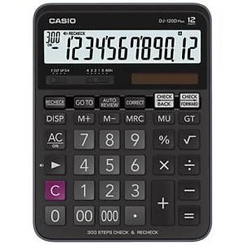 Casio DJ-120D Plus Ýþlem Kontrollü 12 Hane Masa Üstü Hesap Makinesi