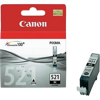 Canon CLI-521BK Black Siyah Mürekkep Kartuþ MP260-540-550-560-620-630 MX860-870
