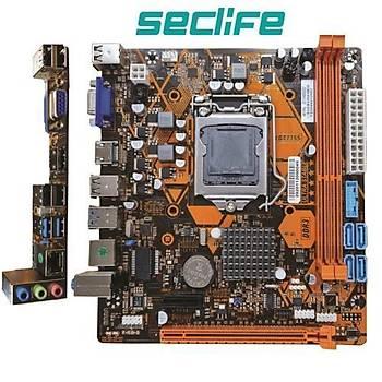 Seclife H61FHL DDR3 S+V+L 1155P Anakart