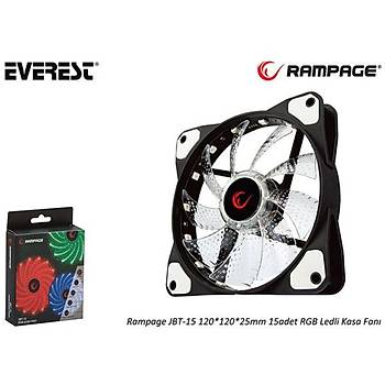 Everest Rampage JBT-15 120-120-25mm 15 Adet Rgb Ledli Kasa Faný