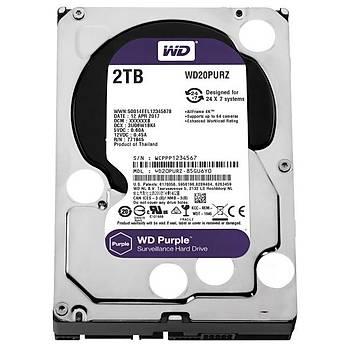 """Wd 2Tb Purple 3,5"""" 64Mb 5400Rpm Wd20Purz Harddisk"""