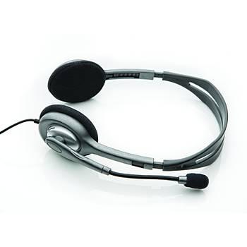 Logitech 981-000271 H110 Stereo Kulaküstü Gri Kulaklýk