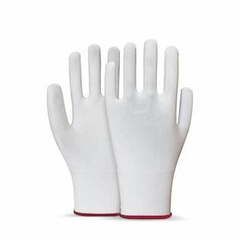 Beybi Polyester Örgülü Beyaz 9 Beden Kasiyer Eldiven 10lu Paket