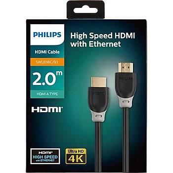 Philips SWL6116c-93 4K 2Mt Altýn Uçlu Hdmi Kablo Kutulu