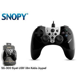 Snopy SG-300 Siyah Usb Gamepad 1.8m Kablo Uzunluðu