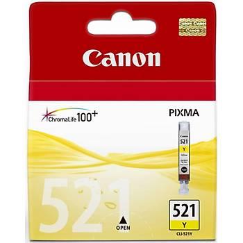 Canon CLI-521Y Yellow Sarý Mürekkep Kartuþ MP260-540-550-560-620-630 MX860-870