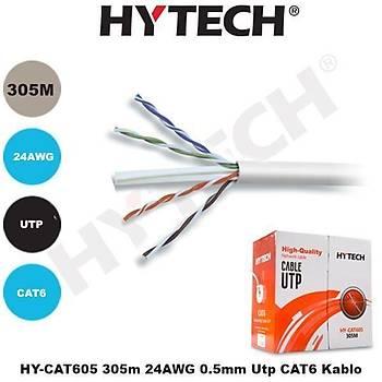 HYTECH HY-CAT605 305MT 24AWG 0,5MM UTP CAT6 KABLO