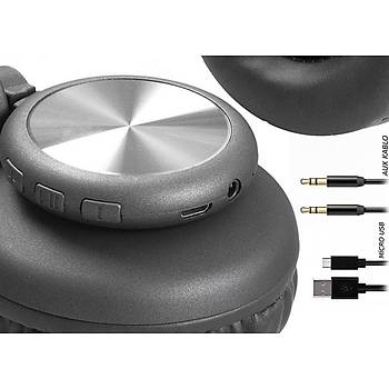 Snopy SN-BT40 RITM TF Kart Özellikli Siyah Bluetooth Kulaklýk