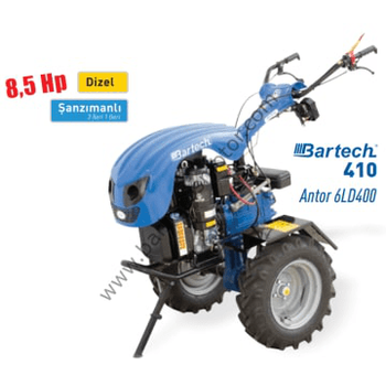 Bartech 410 8.5 HP Antor Motor Dizel Ýpli Çapalama Makinesi