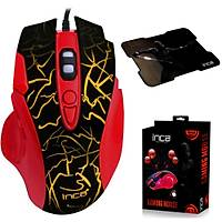 INCA IMG-319 8D 4800 7 COLOR LED USB GAMING MOUSE+MOUSEPAD