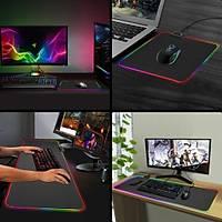 Bvlx RGB 78*30 Dünya Desenli Led Iþýklý Gaming Mouse Pad