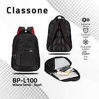 Classone BP-L100 15,6 inç Notebook Sýrt Çantasý-Siyah