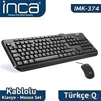 Inca IMK-374U Multimedye Q Klavye Mouse Set