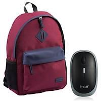 Classone BP-V162BL 15,6 inç Notebook Sýrt Çantasý+Kablosuz Mouse