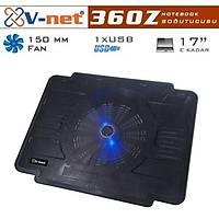 V-Net 360Z 15cm Mavi LED Fanlý 1 Port USB Notebook Soðutucu