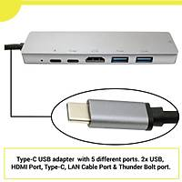 Type-C to 6 in 1 Hub For Macbook Pro Çoðaltýcý Dönüþtürücü