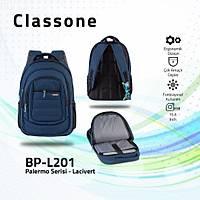 Classone BP-L201 15,6 inç Notebook Sýrt Çantasý-Lacivert