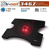 V-net 346Z 15cm Kýrmýzý LED Fanlý 1 Port USB Notebook Soðutucu