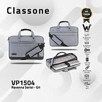 Classone Ravenna VP1504 15.6 Su Geçirmez Kumaþ/Fermuar Laptop El Çantasý