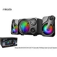 Mikado MD-BT28 5W+3W×2 Siyah LED Iþýklý Speaker