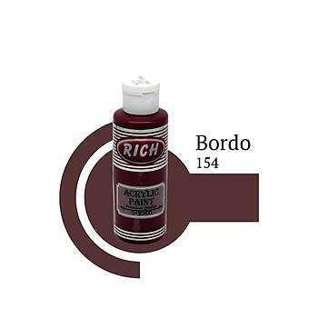 Rich 130 ml Akrilik Boya 154 Bordo