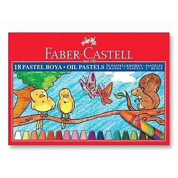 Faber-Castell Karton Kutu Pastel Boya, 18 Renk