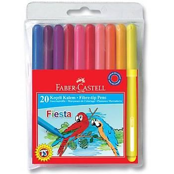 Faber Castell Fiesta Keçeli Kalem 20 LÝ Poþet