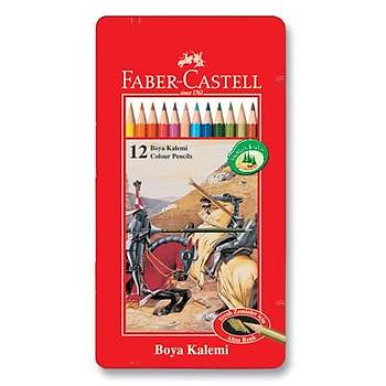 Faber-Castell Metal Kutu Boya Kalemi 12 Renk