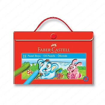 Faber Castell 125119 Çantalý Pastel Boya 18 Renk