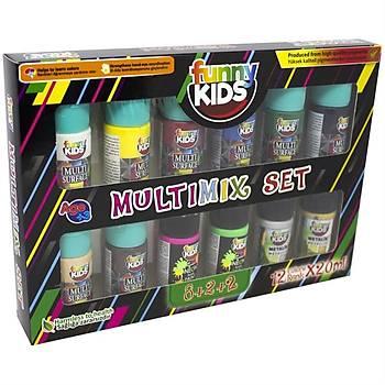 Funny Kids 20 ml Multimix 12'li Set