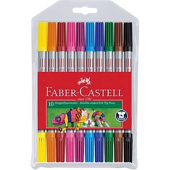 Faber-Castell Çift Uçlu Keçeli Kalem,10 Renk