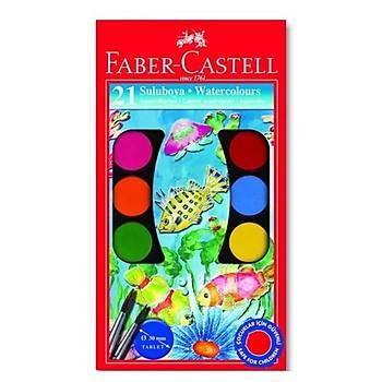 Faber-Castell Suluboya, 21 Renk Büyük Boy