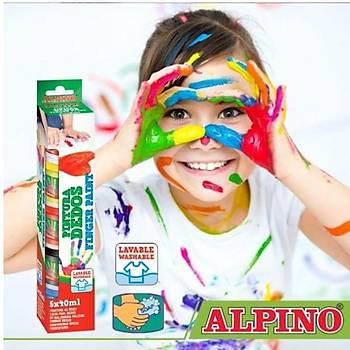 Alpino 6 lı Parmak Boyası 6x25 Ml