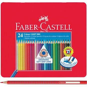 Faber Castell 24 Renk Grip Kuru Boya (water-soluble) Teneke