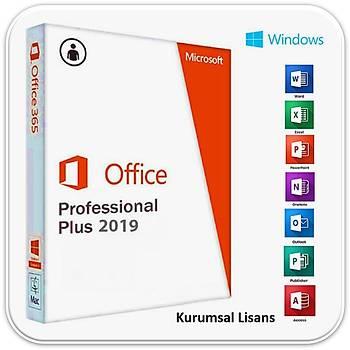 Office 2019 Pro Plus Dijital Lisans Anahtarý Key 32&64 Bit ( Þirket)