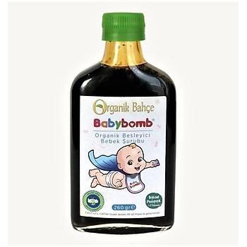 BABYBOMB Organik Yüksek Demirli C Vitaminli Prebiyotik Bebek Þurup 260Gr