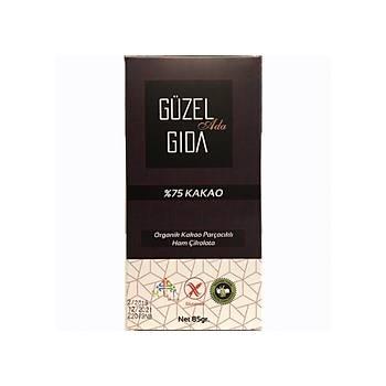 Güzel Gýda Organik Parçacýklý Ham Çikolata 85 gr