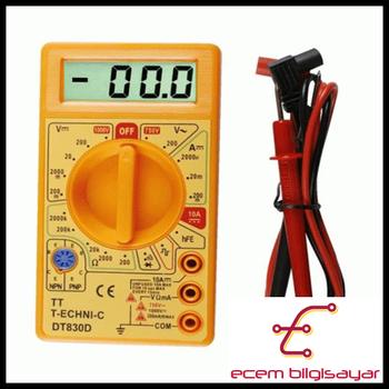 DT-830D Avometre Dijital Multimetre ölçü aleti