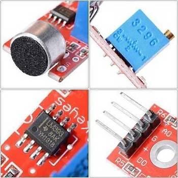 Arduino Ses Sensörü Kartý (4 pinli)