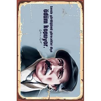 Özdemir Asaf 3 Retro Ahþap Poster 30x20