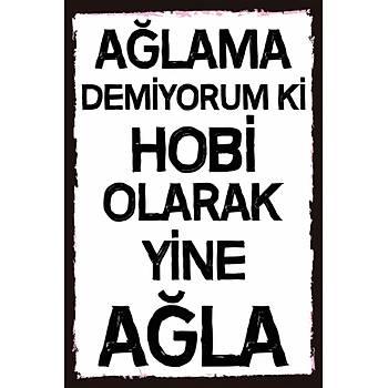 Hobi Olarak Retro Ahþap Poster 30x20